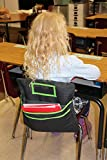 Tiny Octopus Student Chair Pockets for Classrooms - Books and Supplies Chairback Organizer - Foldable and Portable Class Seat Companion