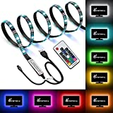 VanskyTV backlight Kit,Bias Lighting for TV,LED Strip Lights USB Powered LED Light Strip with RF Remote for 30-55 inch TV,Desktop PC - Reduce Eye Strain and Increase Image Clarity