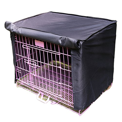 Alfie Pet by Petoga Couture – Finch Pet Polyester Crate Cover – Color: Black, Size: Small