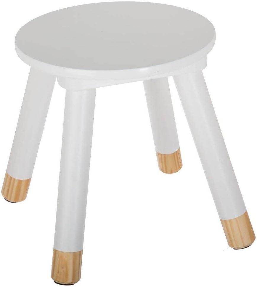 Atmosphera Taburete de Madera para niños - Color Blanco