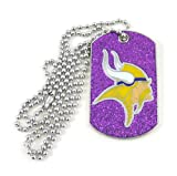 NFL Minnesota Vikings Glitter Dog Tag