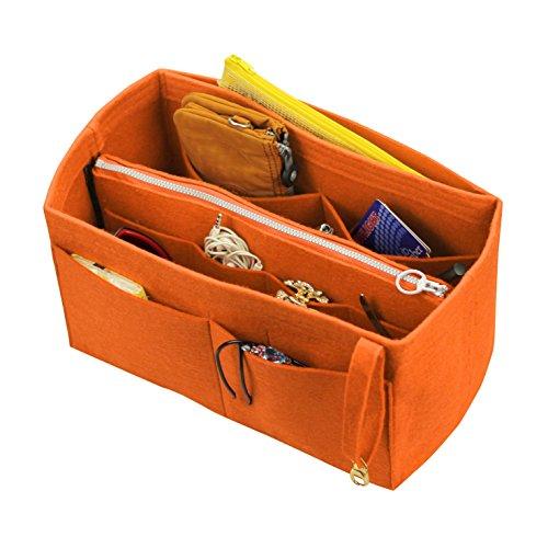 [Fits Various Bags, L.V Her.mes Long.champ Go.yard] Felt Tote Organizer (w/ Detachable Zipper Bag), Purse Insert, Cosmetic Makeup Diaper Handbag, Belongings Pocket (Somerset Tote)