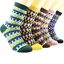 3-5 Pairs Womens Colorful Winter Warm Socks Soft Crew Boot Sock Gift Idea US5-9
