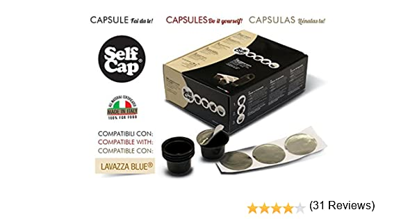 LAVAZZA BLUE 100 Cápsulas recargables para llenar Self Cap: Amazon ...