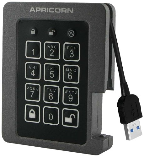 (Apricorn Aegis Padlock 480 GB SSD 256-Bit, FIPS 140-2 Level 2 Validated Ruggedized USB 3.0 Encrypted External Portable Drive)