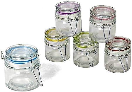 1 litro con coperchio ermetico Lawei 4 pezzi Barattolo in vetro a bocca larga