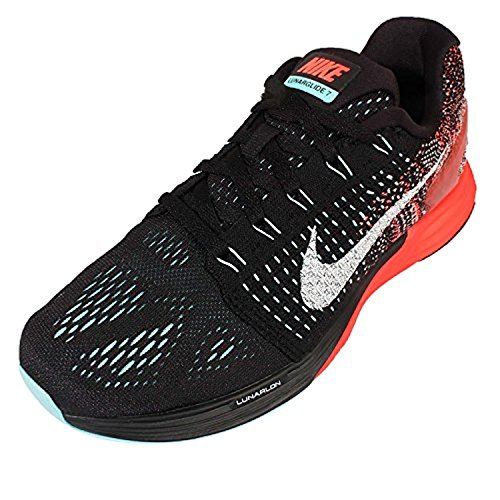 Nike Femmes Wmns Lunarglide 7, Noir / Blanc-copa-hyper Orange Noir / Blanc-copa-hyper Orange