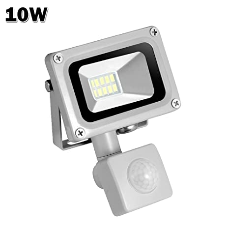 Floodlights Pir Motion Sensor Led Floodlights Waterproof Ip65 10w 20w 30w 50w Led Flood Lights Induction Sense Outdoor Led Lights Ac 85-265v