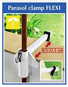 Amazon Com Steel Umbrella Railing Flexi Clamp Garden