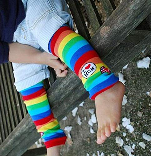 Fairy Wings Toddlers I Love Mom Rainbow Stripe Leg Warmers One Size Multicolor