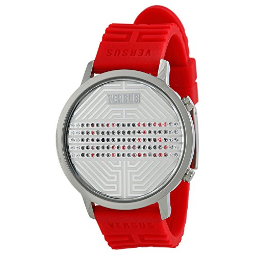 Versus by Versace Men's 3C70900000 Hollywood Stainless Steel Digital Date Crystal Watch