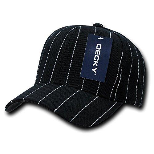 (DECKY Pin Striped Adjustable Ball Cap, Black)