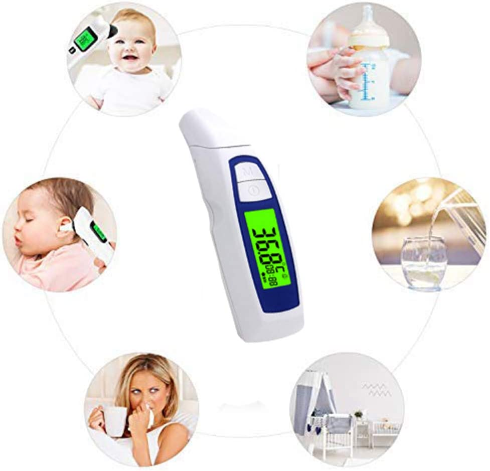 Swovo Ear Thermometer Digital Forehead Thermometer with Fever Alarm and Memory Function Medical Infrared Thermometer for Baby Adult
