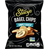 Stacy's Simply Naked Bagel Chips, 7 Ounce Bags (Pack of 12)