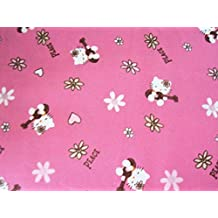 Hello Kitty Fabric Ukelele Pink Background By The Fat Quarter New BTFQ
