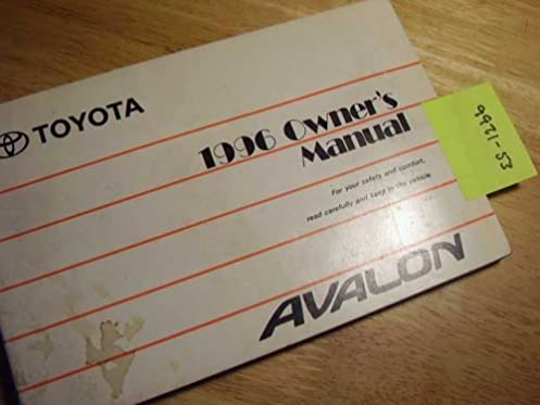 1996 toyota avalon owners manual toyota amazon com books rh amazon com 1996 toyota avalon service manual 1998 Toyota Avalon