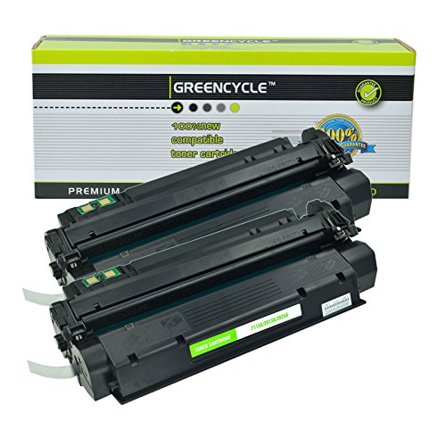 GREENCYCLE New C7115A 15A Toner Cartridge Black Compatible Replacement for HP Laserjet 1000 1005 1200 1220 3300 3320 3330 3380 Printer (2 Black)