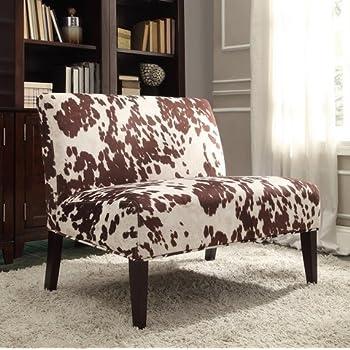 Amazon Com Inspire Q Wicker Faux Brown Cow Hide Fabric 2