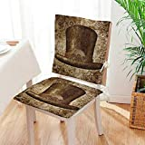 Mikihome Chair Cushion Collection Steampunk Top Hat as a Science Fiction Concept Made of Metal Copper 2 Piece Set Office Chair Car Seat Cushion Mat:W17 x H17/Backrest:W17 x H36