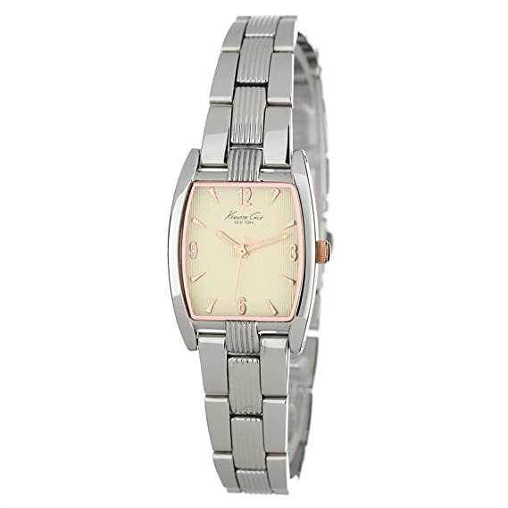 Kenneth Cole KC4644 - Reloj de mujer de cuarzo, correa de acero inoxidable color plata: Amazon.es: Relojes