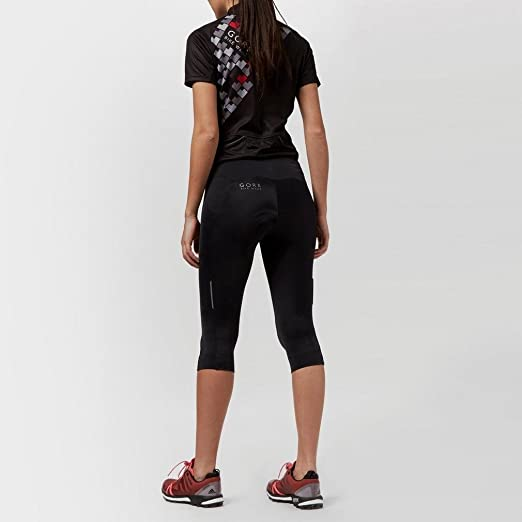 Respirant TLELEM GORE Selected Fabircs LADY Tights 3//4+ GORE BIKE WEAR Femme Collant /¾ de Cyclisme avec Insert Peau de Chamois Noir Taille XS