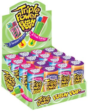 Topps Triple Power Push Pops 16 Count by Triple Power Push Pops