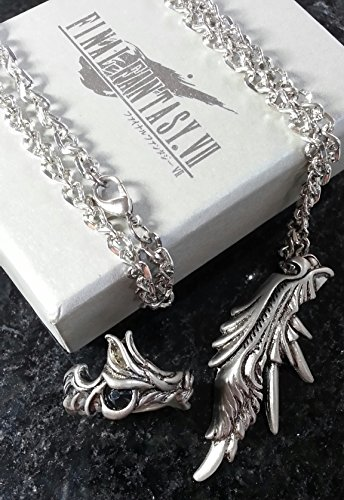 Final Fantasy VII Sephiroth Ring & Necklace FF7 Squall Griever Dissidia Cloud Serah Cosplay Anime