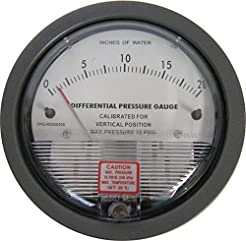 Differential Pressure Gauge, 0-20 Inches...