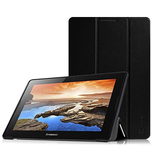 Fintie Lenovo A10-70 SmartShell Hülle Case Tasche Etui - Ultra Slim Superleicht Ständer Schutzhülle Cover für Lenovo IdeaTab A10-70 25,7 cm (10,1 Zoll) Tablet, Schwarz