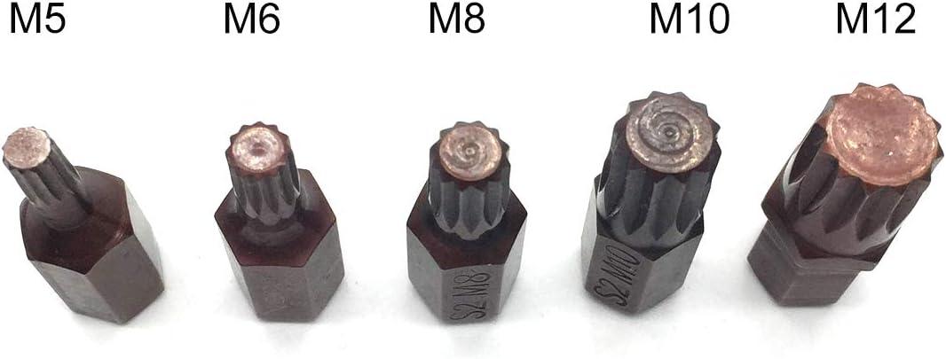 "1//4/"" Hex Shank Impact Lock Screwdriver Bits 12pcs NGe PH2 Phillips 1/"" Insert Bit 25mm Length Cross Tip"