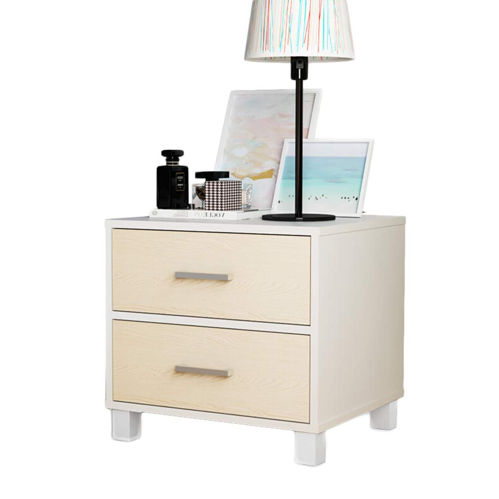Amazon com nightstands bedside table with 2 drawer waterproof simple locker for family bedroom melamine furniture white kitchen dining