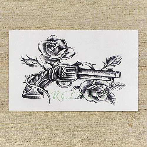 tzxdbh Tatuajes temporales Impermeables del Tatuaje de la Pistola ...