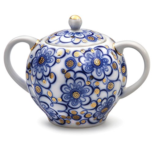 Lomonosov Porcelain Sugar Bowl Tulip Bindweed 15 oz/450 ml