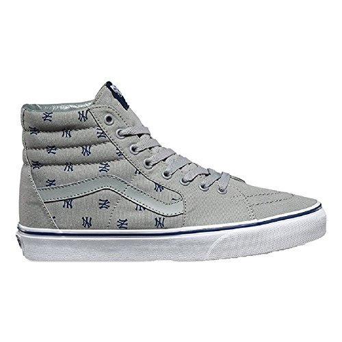 Vans Unisex Sk8-Hi MLB Skate Shoes-New York Yankees/Gry-12.5-Women/11-Men by Vans (Image #3)