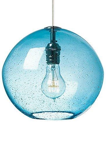 Lbl lighting lf512aqsc2d60 isla 1 light 120 volt mini pendant aqua blown