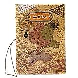 Sunnyhill World Map 3D Passport Cover Title World Trip
