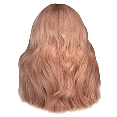 Peluca Mujer Rubia Europa Y America SeñOrita Fibra Quimica Alambre De Alta Temperatura PuntuacióN Media Pelo Rizado Wigs Beladla: Amazon.es: Ropa y ...