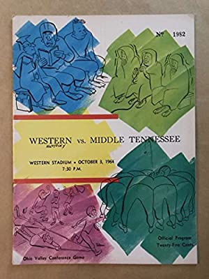Middle Tennessee St Univ Western Kentucky Univ Col College Football Program 1964 Ex