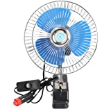 Whitelotous Mini 12V Portable Powered Clip Fan for Truck Car Vehicle