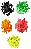 250 Neon Orange Yellow Green Pink Black 50 each 2BA Dart Master ''Pro Points'' Tufflex III Standard length