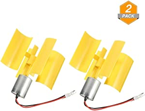 Sparik Enjoy DC 0.1V-5.5V 100-6000RPM Micro Vertical Wind Turbines, Small Motor Wind Blades Generator for DIY (2pcs)