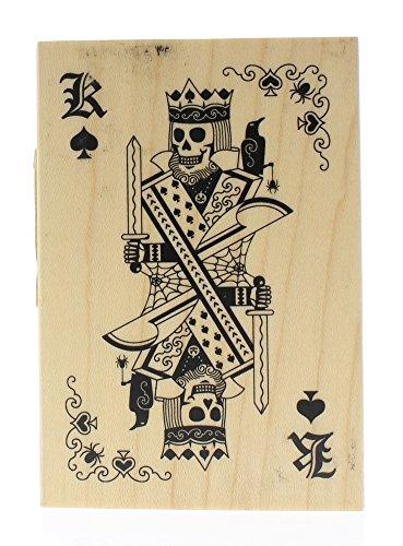 Inkadinkado Wood Stamp, Skeleton King Playing Card -