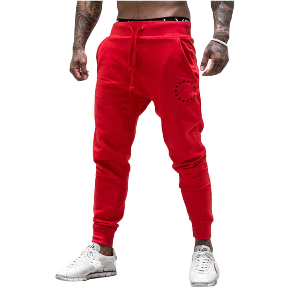 Mens Sport Pants Long Trousers Tracksuit Fitness Workout Joggers Sweatpants