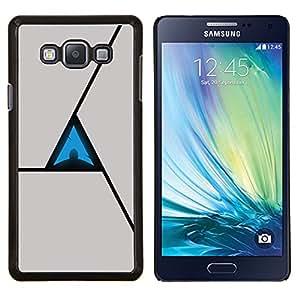 Caucho caso de Shell duro de la cubierta de accesorios de protección BY RAYDREAMMM - Samsung Galaxy A7 A7000 - Triángulo abstracto