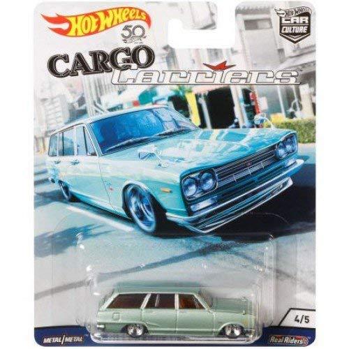 HOT WHEELS 2018 RELEASE CARGO CARRIERS CAR CULTURE SERIES LIGHT GREEN NISSAN C10 SKYLINE WAGON (1969 NISSAN SKYLINE VAN) (Hot Light Wheels)