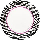 Zebra Print Dinner Plates, 8ct