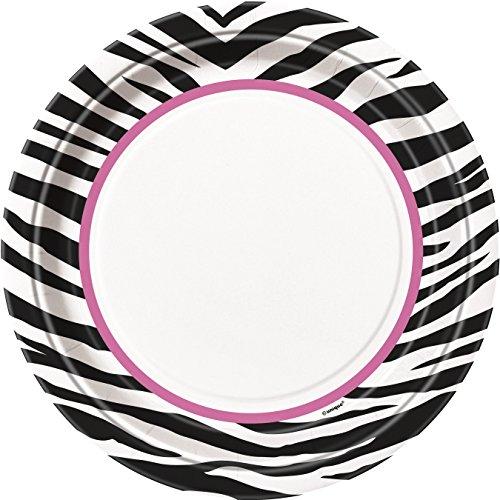 Zebra Print Dinner Plates 8ct