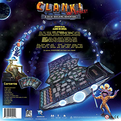 Renegade Game Studios, Clank! In! Space! A Deck-Building Adventure (RGS0594)