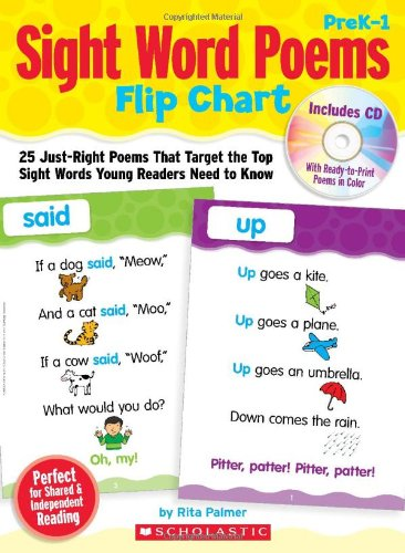 Sight Word Poems Flip Chart: 25 Just-Right Poems That Target the Top Sight Words Young Readers Need to Know