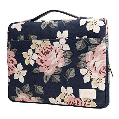 Sherosa 13-13.3 Inch Macbook Air/ Macbook Pro / Pro Retina Sleeve Case Cover Protective Bag Ultrabook Netbook Carrying Case Briefcases for 13' Macbook Air, MacBook Pro (Retina) - White Rose Pattern